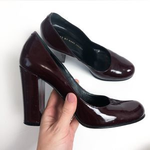 Marc by Marc Jacobs Maroon Patent Leather Block